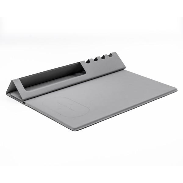 Herramienta de escritorio portátil multifunción funciona como cargador inalámbrico, alfombrilla de ratón, soporte para t
