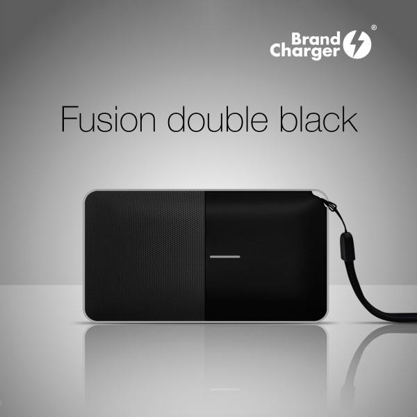 FUSION - Bocina portátil bluetooth con power bank de 6,000 mah y micrófono incorporado para llamadas manos libres