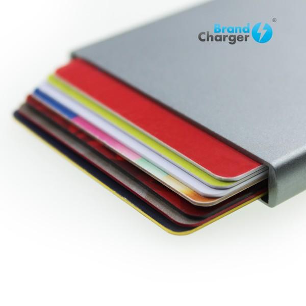 WALLY - Porta tarjetas, con sistema RFID y mecanismo de salida. Es el portatarjetero (crédito) perfecto para tu vida