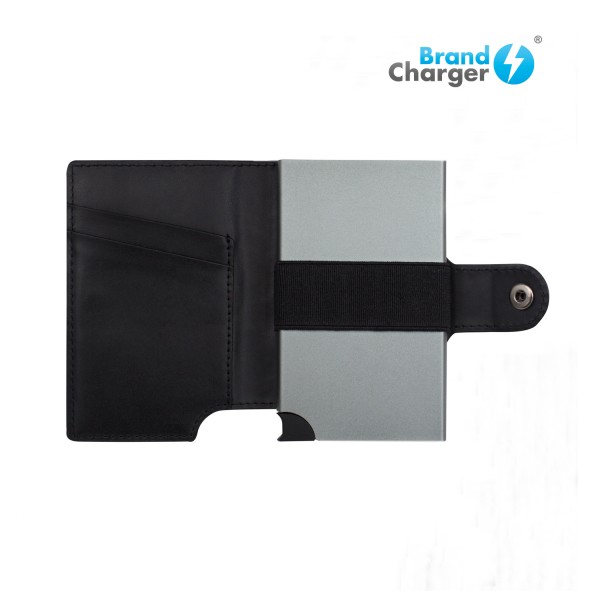 WALLY PORTO - Billetera de cuero, con sistema de seguridad RFID. Eelegante billetera que puede contener hasta 9 tarjetas