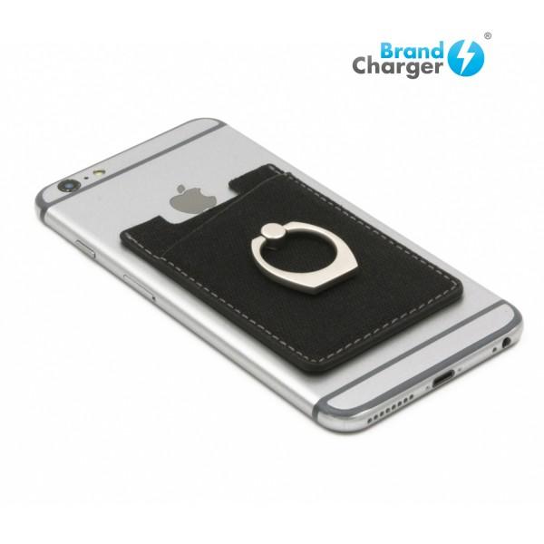 LIBERTY - Accesorio para celular, cuenta con espacio para tarjetas de crédito, bloqueo RFID y anillo para sostener el te
