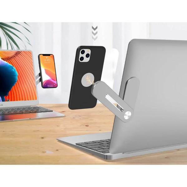 MAGNETIC- Soporte de teléfono de extensión para computadora portátil